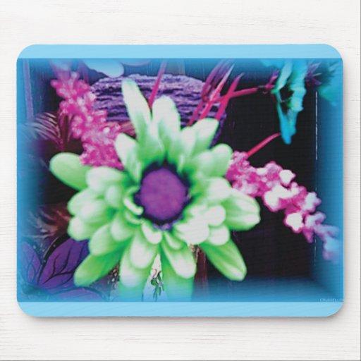 cojín de ratón coloreado único de la flor alfombrilla de ratón