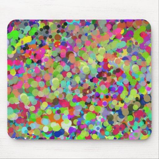 Cojín de ratón colorido de Dottted de la polca Tapetes De Ratones