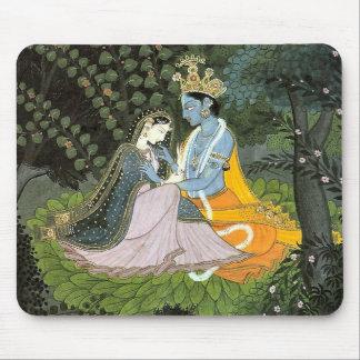 Cojín de ratón colorido de Krishna y de Radha Mouse Pads