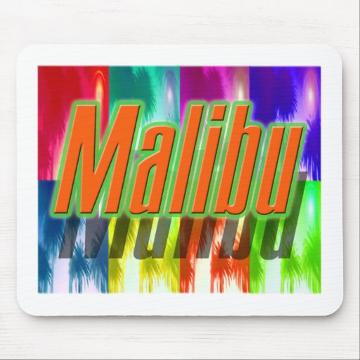 """Cojín de ratón colorido de las palmas de """"Malibu"""" Alfombrilla De Ratones"""