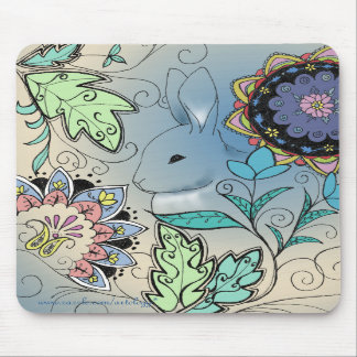 Cojín de ratón colorido del conejito (vertical) tapetes de ratones