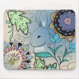 Cojín de ratón colorido del conejo (horizontal) tapetes de raton