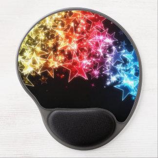 Cojín de ratón colorido del gel de las estrellas alfombrillas de ratón con gel