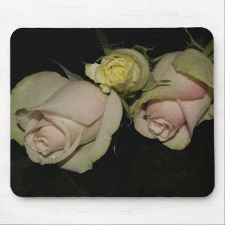 Cojín de ratón con 3 rosas tapete de ratón
