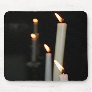 Cojín de ratón con 3 velas tapetes de ratones