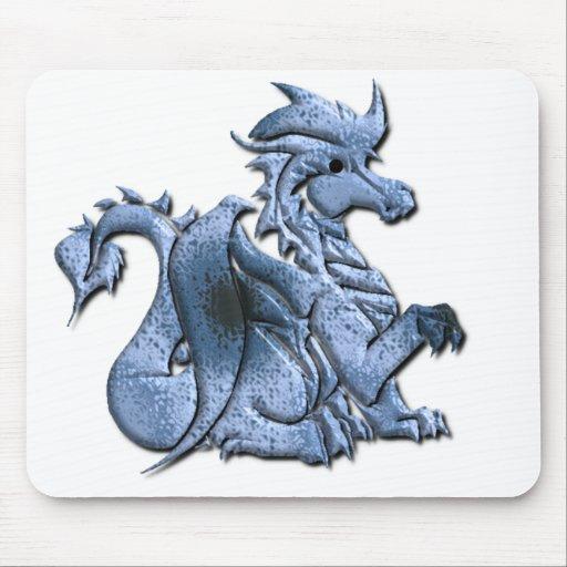 Cojín de ratón con alas azul del dragón mousepads