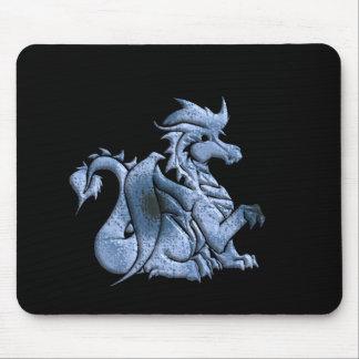 Cojín de ratón con alas azul del dragón alfombrilla de ratones