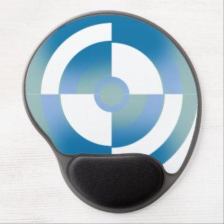 Cojín de ratón con diseño circular abstracto alfombrillas de raton con gel