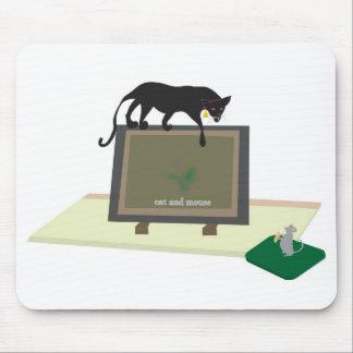 Cojín de ratón con el gato alfombrillas de raton