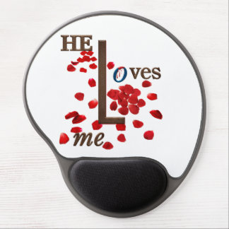 cojín de ratón con el mensaje del amor en los alfombrilla gel