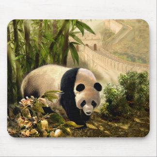 Cojín de ratón con el oso de panda y la Gran Alfombrilla De Ratón