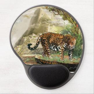 Cojín de ratón con Jaguar en Macha Picchu Perú Alfombrilla De Raton Con Gel