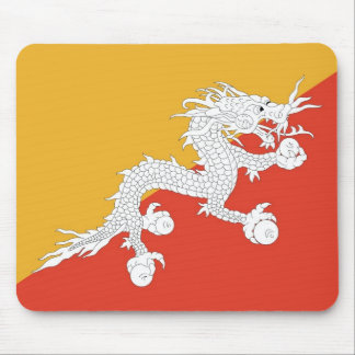 Cojín de ratón con la bandera de Bhután Tapete De Raton