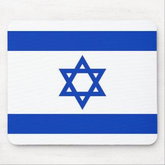 Cojín de ratón con la bandera de Israel Tapete De Ratón