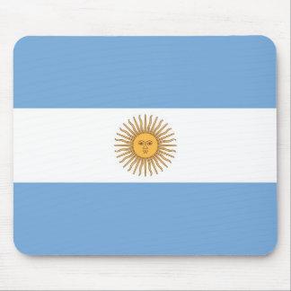 Cojín de ratón con la bandera de la Argentina Alfombrillas De Raton
