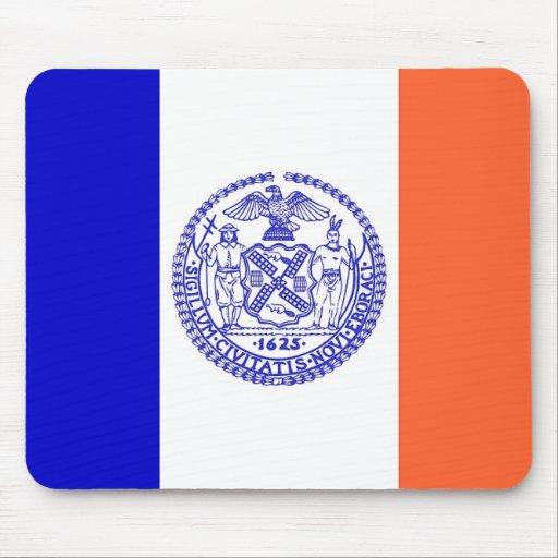 Cojín de ratón con la bandera de New York City - l Alfombrillas De Ratones