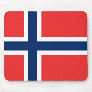 Cojín de ratón con la bandera de Noruega Mouse Pads