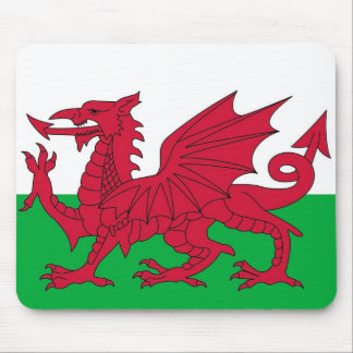 Cojín de ratón con la bandera de País de Gales Tapetes De Ratón