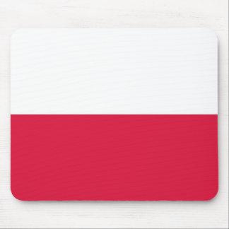 Cojín de ratón con la bandera de Polonia Tapetes De Ratones