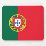 Cojín de ratón con la bandera de Portugal Alfombrillas De Ratones