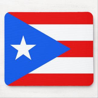 Cojín de ratón con la bandera de Puerto Rico - los Alfombrillas De Raton