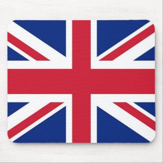 Cojín de ratón con la bandera de Reino Unido Tapete De Ratones