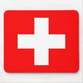 Cojín de ratón con la bandera de Suiza Mousepad