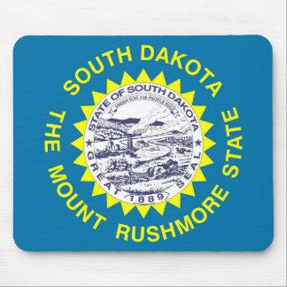 Cojín de ratón con la bandera del estado de Dakota Alfombrillas De Ratones