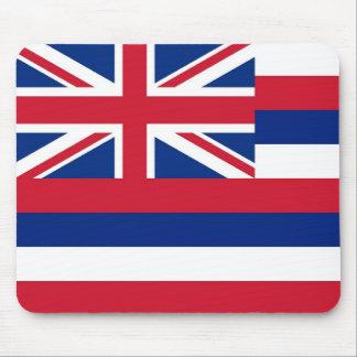 Cojín de ratón con la bandera del estado de Hawaii Tapete De Raton