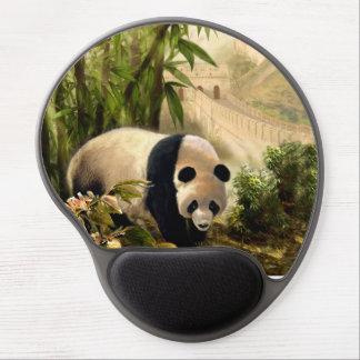 Cojín de ratón con la panda y la Gran Muralla de Alfombrilla Gel