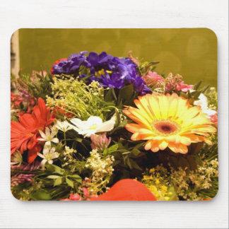 Cojín de ratón con las flores alfombrilla de ratones