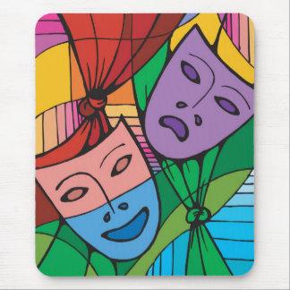 Cojín de ratón con las máscaras del teatro alfombrilla de ratón
