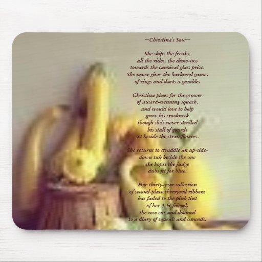 """Cojín de ratón con mi el poema """"Christana… - modif Tapete De Raton"""