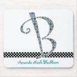 Cojín de ratón con monograma - letra B Alfombrillas De Raton
