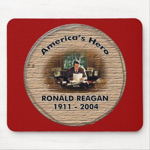 Cojín de ratón conmemorativo de Ronald Reagan Alfombrilla De Ratón