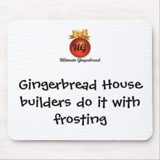 Cojín de ratón - constructores de la casa de pan d mousepad