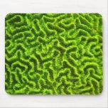 cojín de ratón coralino verde alfombrillas de raton