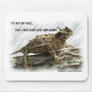 Cojín de ratón córneo irlandés del sapo de Krazy Tapetes De Ratón