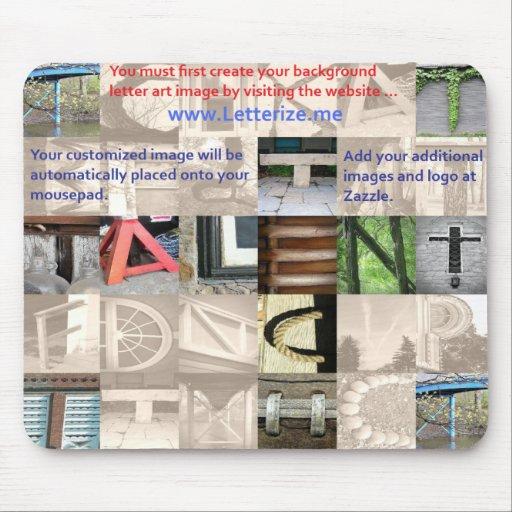 Cojín de ratón corporativo del arte de la letra tapete de raton