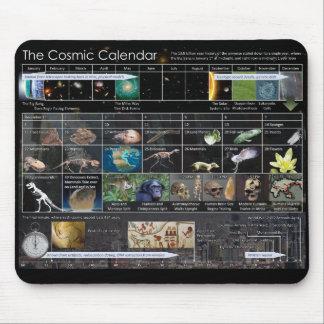 Cojín de ratón cósmico del calendario alfombrillas de raton
