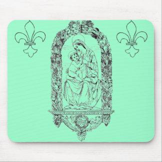 Cojín de ratón cristiano de los símbolos tapete de ratones