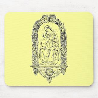 Cojín de ratón cristiano de los símbolos alfombrilla de ratón