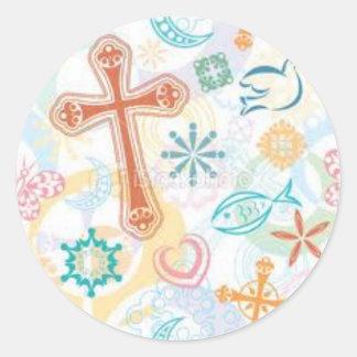 Cojín de ratón cristiano del pegatina de la cadena