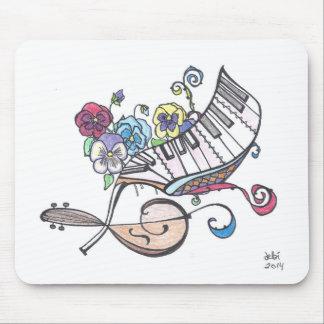 cojín de ratón cuadrado:  bajo y flores alfombrilla de ratón
