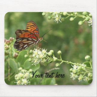 Cojín de ratón cualquier mariposa del naranja de l tapete de ratones