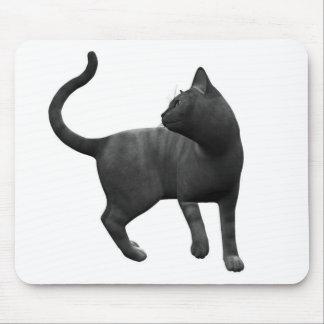 Cojín de ratón dañoso del gato negro mousepad