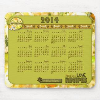 Cojín de ratón de 2014 calendarios - comida de per alfombrillas de raton