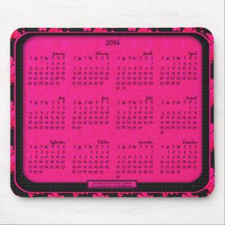 Cojín de ratón de 2014 calendarios - corazones de  alfombrillas de ratón