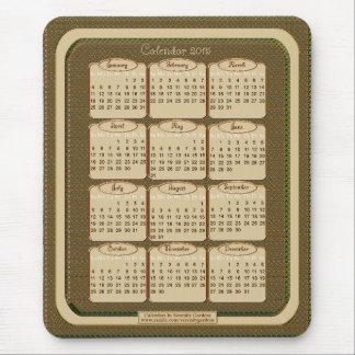 Cojín de ratón de 2015 calendarios - Brown hornead Tapete De Ratón