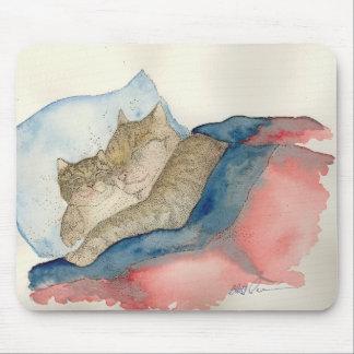 Cojín de ratón de abrazo del gatito de la madre y  mouse pads